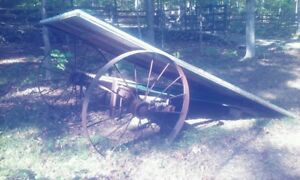 FREE -  old metals wheels from wagon