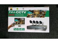 Brand new 4 CHANNEL CCTV kit 1 TB hard drive. 1080p AHD. MOBILE viewing .