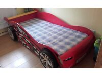 single racing car bed with mattress