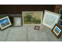 Joblot of pictures all framed