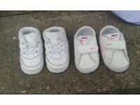 newborn Nike trainers X2 pairs