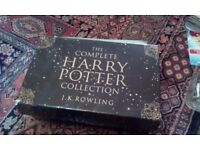 Complete set of Harry Potter books and dvds