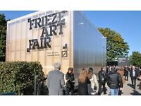 Free advertising at Frieze Art Fair - 50,000 footfall - No restrictions All content welcome