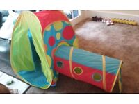 Chad Valley multi colour play tent and tunnel