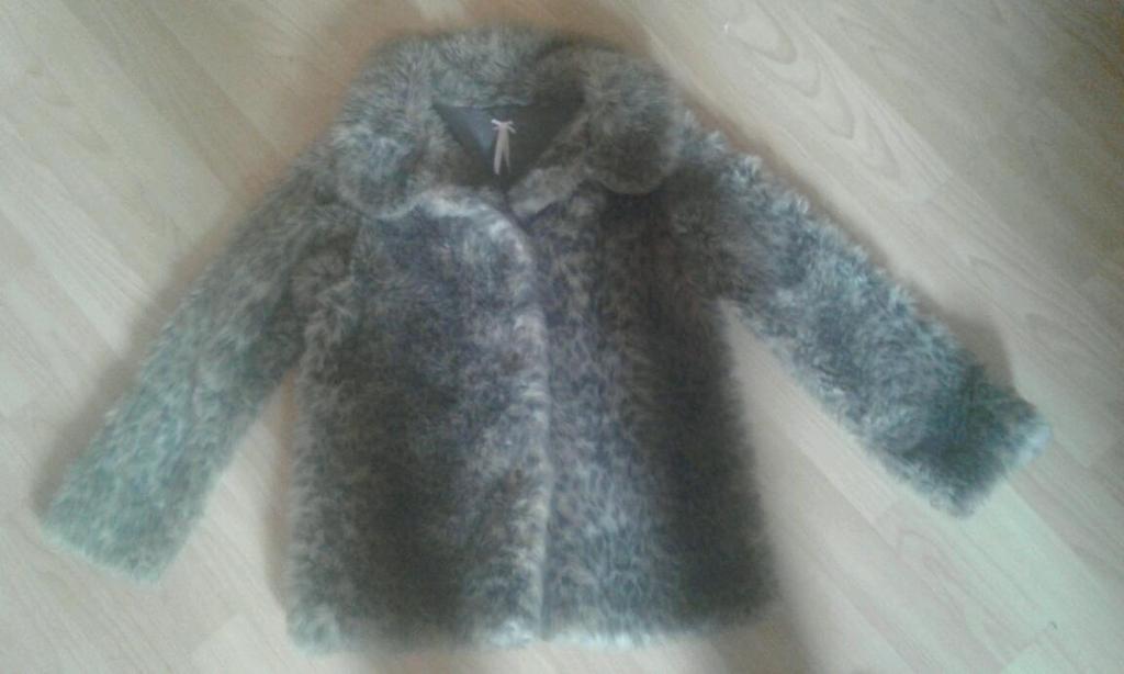 Next girls fur coat