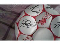 Signed Liverpool Fc ball 08/09 season GENUINE