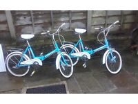 folding bikes 3 speed sturmey archer - pair like brompton dahon moulton