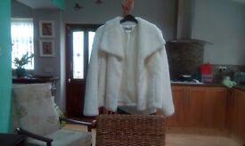 Wallis white faux fur Hackett only worn once.