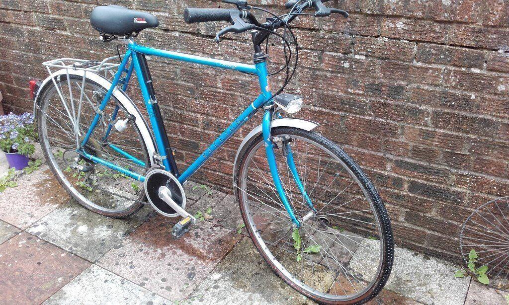 Vintage Blue Raleigh Pioneer Prestige Bicycle Bike Spring Seat