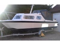 "Microplus 561 Inshore/Inland Cruiser (L 17ft 6"" W 7ft) c/w new Honda Outboard. Fully refitted."