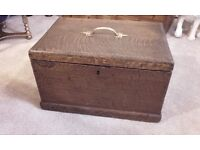 small oak chest box trunk