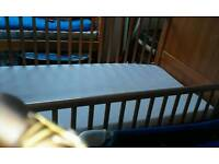 Cot and bed with mattress