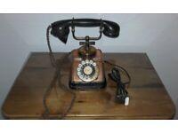 Vintage Rotary Dial Telephone Danish