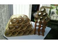 Wicker wine racks
