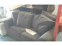 Brown Fabric 2 Seater sofa