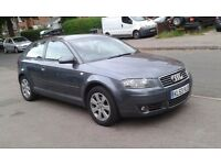 AUDI A3 2,0 TDI 53 REG GREY 6 SPEED MANUAL MOT JANUARY 2018 FULL SERVICE PART EXCHANGE TO CLEAR
