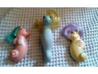 3 x G1 My Little Pony Sea Ponies (1980's)