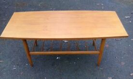 Danish modern coffee table. Scandinavian style cocktail table.