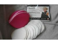 Brand new, never used. Organic Bamboo Nursing Pads and Breastfeeding cover