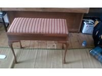 Re-upholstered Duet Piano Stool