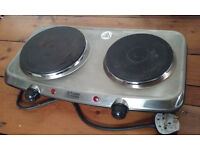 Electric Cooker Two mini Hot plate Russell Hobbs Metallic Grey
