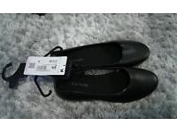 Women's Black Ballet Style Shoes - New