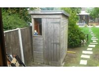 Timber Garden Shed 5 ft x 4ft Excellent Condition