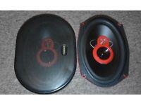 "2 x200W 6x9"" 3 Way Cars Speakers & 2 x 100W 4"" Mid-Range"