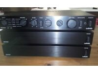 Audiofile high end Hifi - Audiolab 8000A stereo amplifier with 2 x 8000M monobloc pre amps