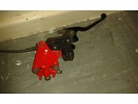 Single AJP Brake caliper w/ Master Cylinder excellent condition (SCOOTER)