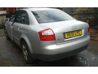 2001 Audi A4 1.9 TDi 130 SE 4dr silver AWX FEC LY7W BREAKING FOR SPARES