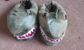 Dino slippers age 2-3