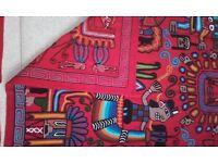 peruvian tapestry wall hanging & 4 cushions