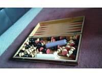Wooden Chessboard, Backgammon & Draughts