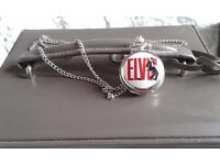 Elvis Pocket Watch Pendantvwith Chain