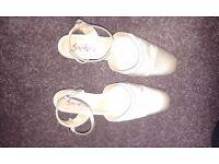 Ivory Satin Wedding Shoes Size 4