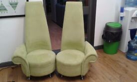 Light green high back chairs. Hardly used.