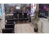 Hair salon lease for sale including goodwill.fixtures and fittings.