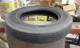 5.25 x 16 Dunlop tyre, Vintage some cracking in the side wall. Read details carefully