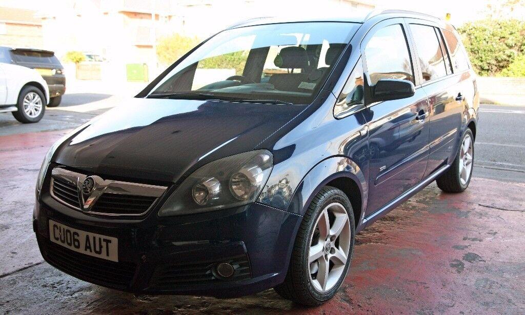 2006 Vauxhall Zafira SRI 2.0 Turbo 200BHP Petrol Manual 7 Seater EX Police