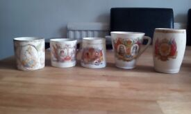 Set of Royal Family Commemorative Mugs