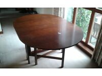 Oval folding dining table