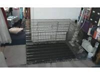 Double door dog crate