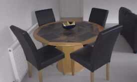 Bespoke table and dining room chairs