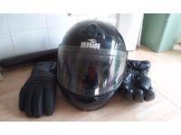 Kiwi Blackline Crash Helmet.