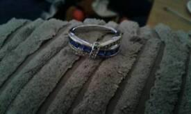 Ladies sapphire ring