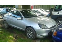 2000 Ford Puma 1.7 16v 3dr silver manual BREAKING FOR SPARES