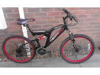 Dunlop Sport Dual Suspension Twin Disc Brake Mountain Bike Bicycle