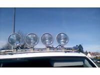 Kelsa hi bar with 4 spot lights and rear brake light bar