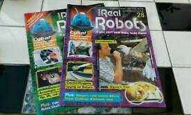 """NO TEXTS PLEASE. """"REAL ROBOTS"""" MAGAZINES. ISSUES 28 & 29 £3 each or £5 for both ."""